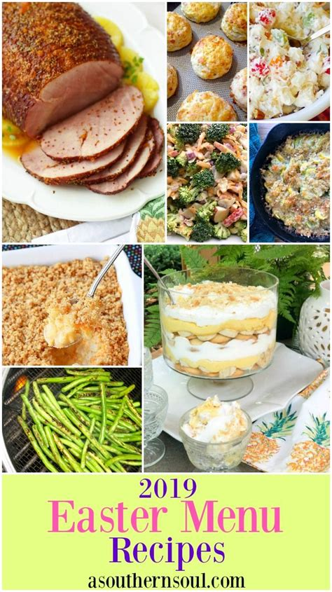The food is better than the presents. Easter Menu Recipes 2019   Food recipes, Food menu, Holiday recipes