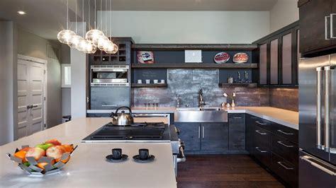 dark hardwood floors  dark cabinets industrial modern kitchen dark cabinets traditional