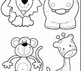 Zoo Coloring Pages Animal Preschoolers Toddlers Drawing Animals Getdrawings Getcolorings Tags Colorings sketch template