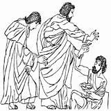 Bible Coloring Study Calvary Calvarywilliamsport Lame Peter Chapel Heals Craft Activities sketch template