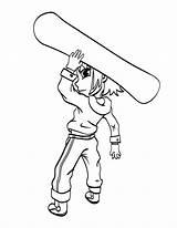 Coloring Snowboard Boy Snowboarding Drawing Sport Printable Among Getcolorings Getdrawings Mat sketch template