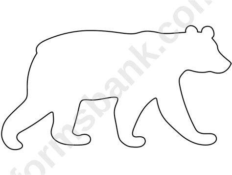 blank polar bear template printable