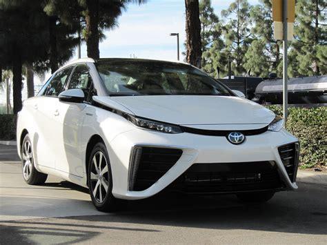 toyota car 2016 2016 toyota mirai hydrogen fuel cell car first photos