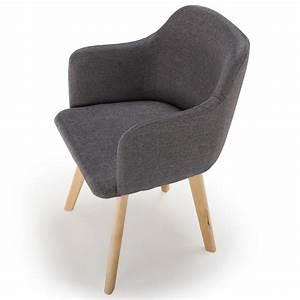 Chaise Tissu Design : chaise scandinave design tissu gris fonc pas cher scandinave deco ~ Teatrodelosmanantiales.com Idées de Décoration