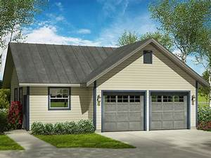 Garage Workshop Plans | Two-Car Garage Plan with Separate ...