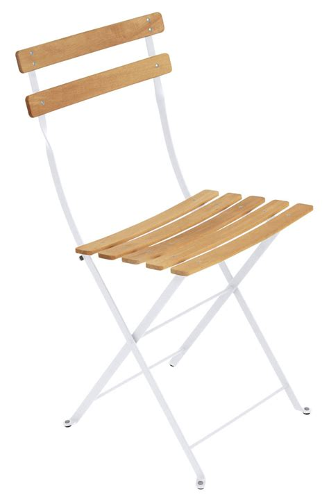 chaise bistrot bois metal bistro folding chair metal wood cotton white wood by