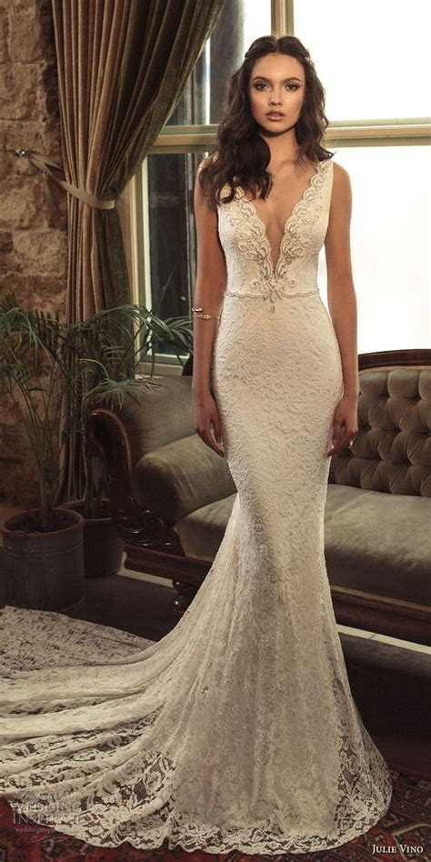 picture  stunning lace mermaid wedding dress
