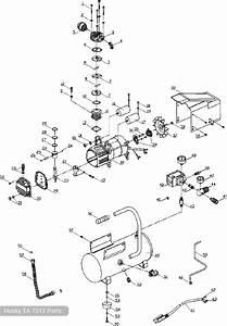 Husky 3 Gallon Air Compressor  Ta-1512