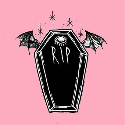 Goth Pastel Coffin Creepy Tattoo Tattoos Society6