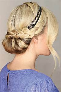 Haarband Für Dutt : 24 herrliche ideen f r effektvolle frisuren mit haarband ~ Frokenaadalensverden.com Haus und Dekorationen
