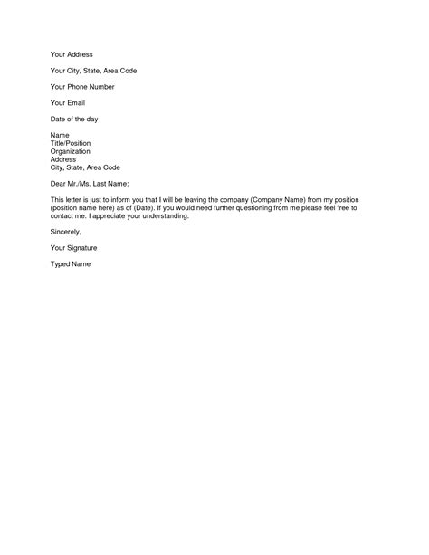 Free Printable Letter of Resignation Form (GENERIC) (With images) | Resignation letter sample
