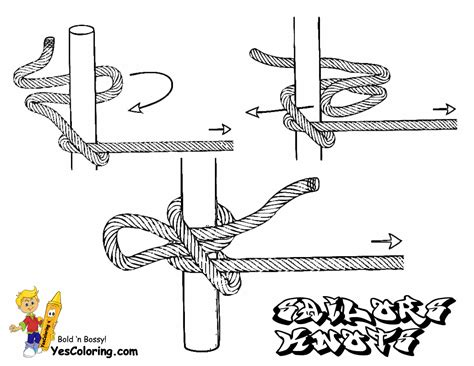 Boat Knots Book by Sky High Ships Coloring Pages Ship Free Sailing