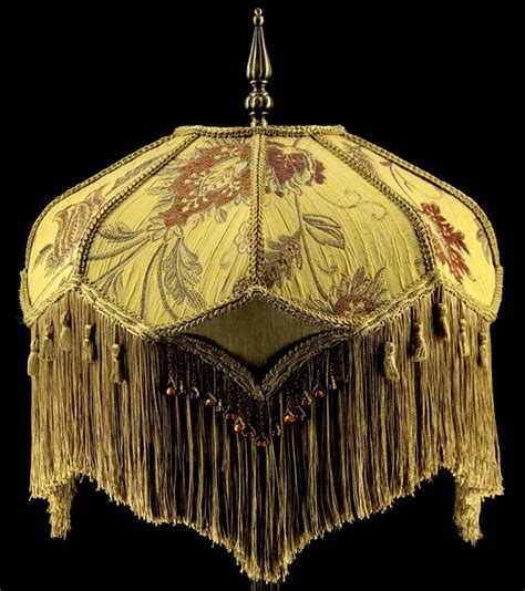 plain jane l shades victorian lamp shade heavy embroidered fabric w gold silk