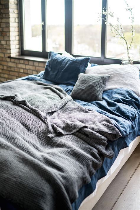 Linen Bedcovers by Linen Throw Blanket Stonewashed Linen Waffle Textured