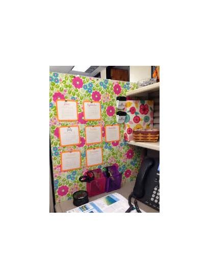 Cubicle Wall Office Walls Paper Wrapping Decor