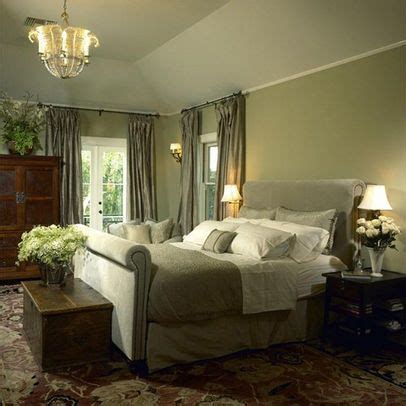 The versatile color which is defined by its grayish silvery undertones puts an elegant twist on traditional greens lending itself to a calming home vibe. sage green master bedroom | Bedroom Photos Sage Green ...