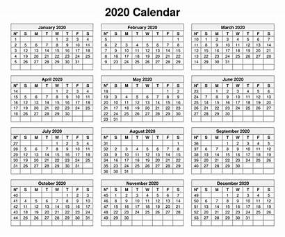 Calendar Yearly Template Monthly Notes Printable Calendars