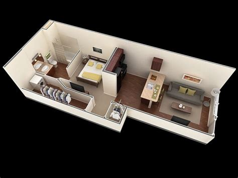 25 One Bedroom Houseapartment Plans by 25 One Bedroom House Apartment Plans Planos One