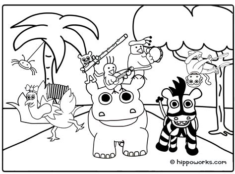jungle coloring pages    print