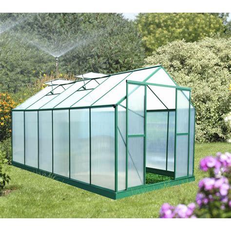 serre de jardin 12 8m 178 polycarbonate 6mm embase
