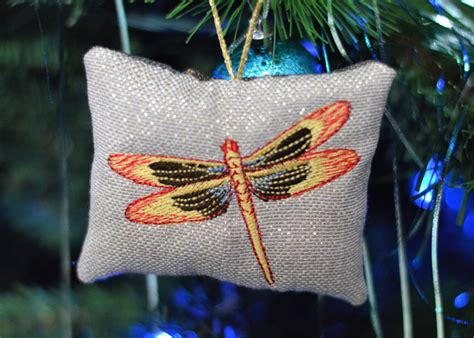 outlander dragonfly  amber christmas tree ornament