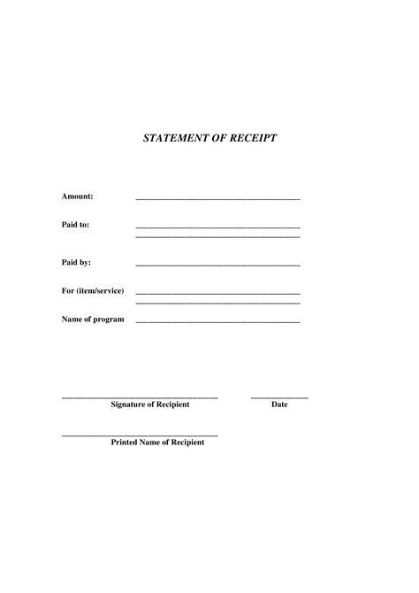 generic receipt template templates