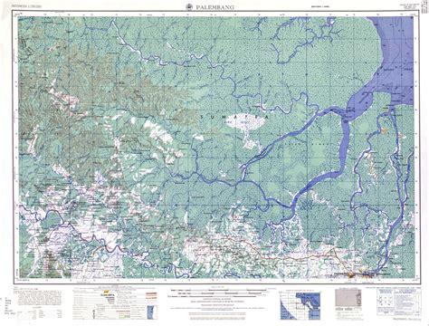 takjub indonesia peta topografi palembang skala