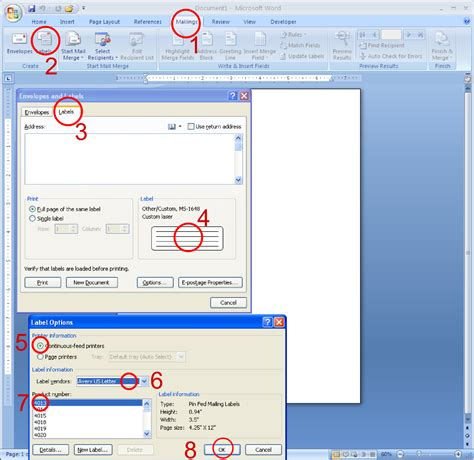 Labels With Ms Word Pinfeed Label Printing Tip Macolabels
