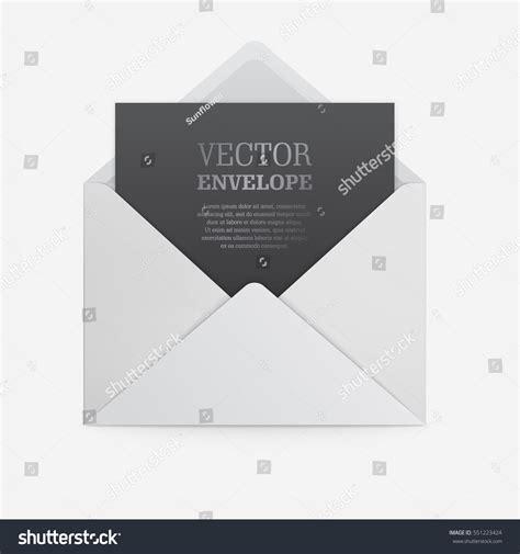 blank template white paper envelope empty stock vector