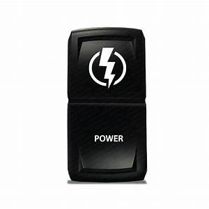 CH4X4 Marine Rocker Switch Power Symbol 3 - ON - OFF switch