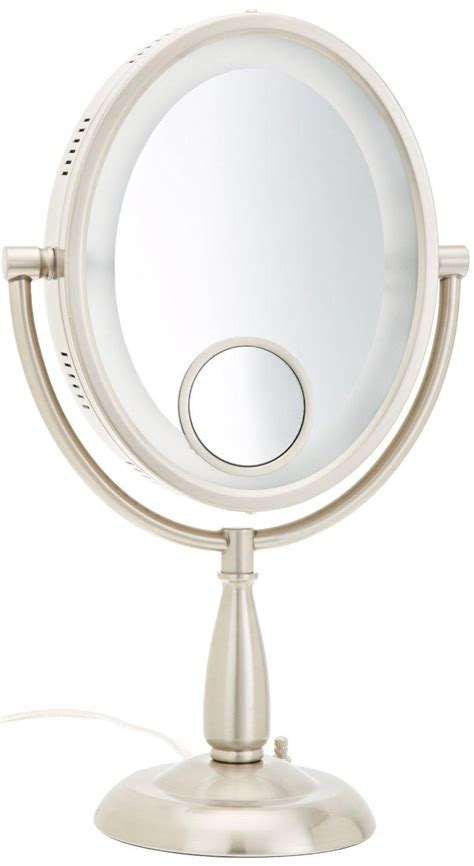 makeup mirror with light jerdon hl9510n 8 inch x 10 inch oval lighted 9112