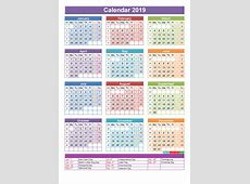 Get Free Printable Calendar 2019 With QLD Holidays