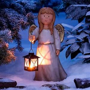 Weihnachtsbeleuchtung Für Draußen : engel emilie mit laterne von g rtner p tschke ~ Michelbontemps.com Haus und Dekorationen