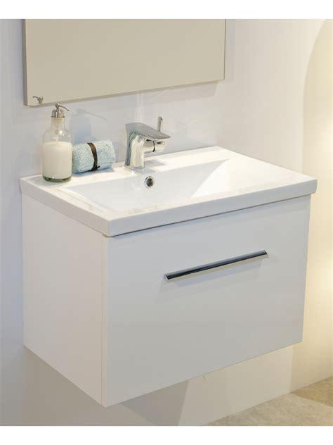 vanore white slimline cm wall hung vanity unit
