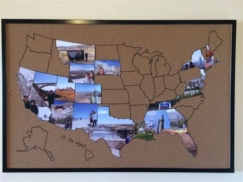 Travel Memories Map. Draw A Map On A Cork Notice Board
