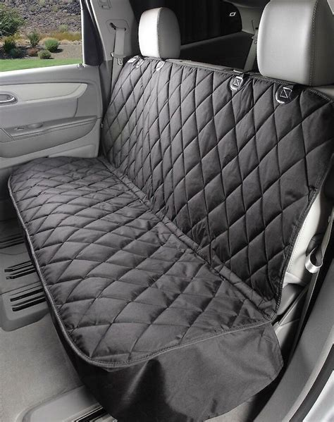 Bench Seat Covers For Cars by 4knines Rear Fitted Seat Cover Black Chewy