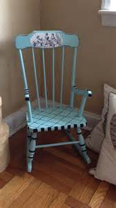 Tiffany Blue Living Room Accessories by Antique Child Rocking Chair Hand Painted From