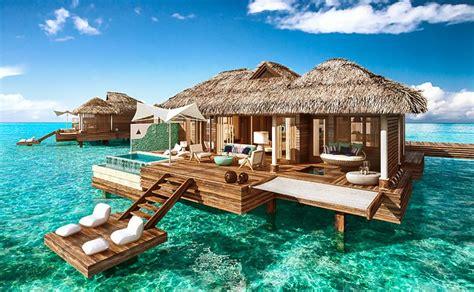 chambre sur pilotis maldives sandals royal caribbean resort montego bay