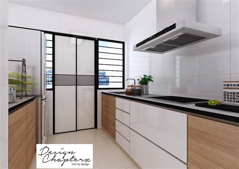 singapore hdb kitchen design hdb 3 room modern minimalist blk 528a pasir ris costa 5252