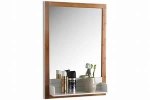 Plateau Deco Design : miroir avec plateau verre et bois 65x45 seen d co design sur sofactory ~ Teatrodelosmanantiales.com Idées de Décoration