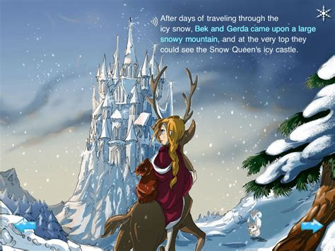 snow queen musical childrens interactive storybook adventure kwiksher