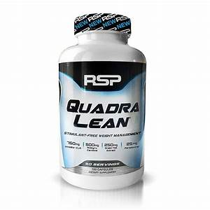 Rsp Quadralean Stimulant Free Fat Burner Pills  Weight Loss Supplement  Appetite Suppressant