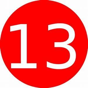 Number 13 Red Background Clip Art at Clker.com - vector ...