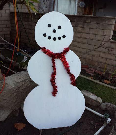 simple wood snowman lawn decoration wood snowman diy