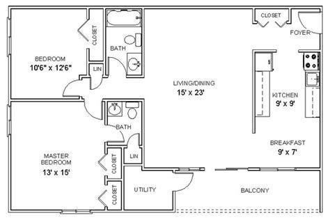 Two Bedroom Floor Plans by Two Bedroom Floor Plan Apartment Corepad Info