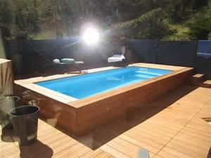 mini piscine l39univers des petits bassins vercors piscine With marvelous terrasse piscine semi enterree 12 piscines bois petite piscine hors sol enterree