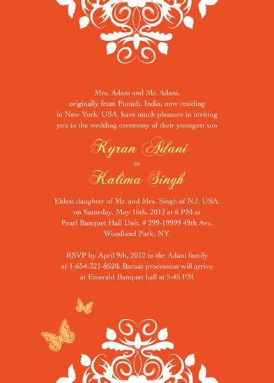 wedding invitations exotic indian inspired wedding