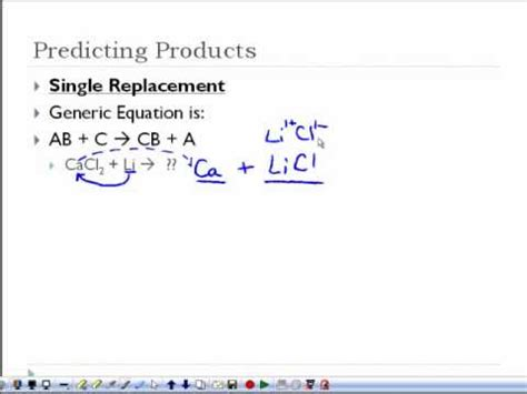 Chemical Reactions  Predicting Products Youtube