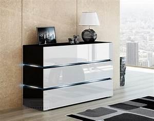 Sideboard Schwarz Weiß Hochglanz : kommode modern design ~ Bigdaddyawards.com Haus und Dekorationen