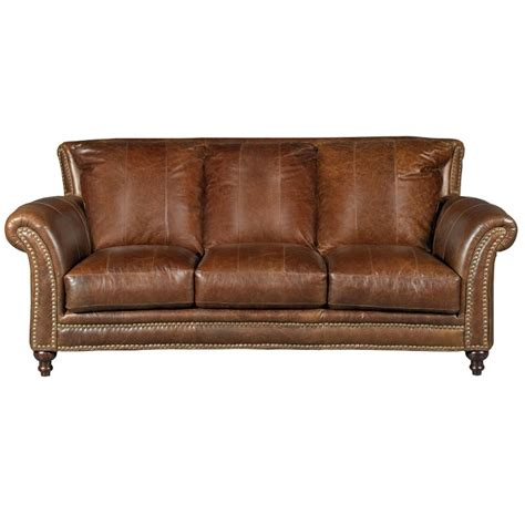 Leather Sofa Store by Classic Traditional Brown Leather Sofa Butler Rc